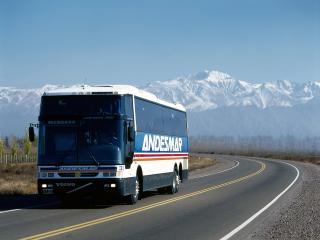 обои Busscar Volvo B12 Jum Buss 360 горы фото