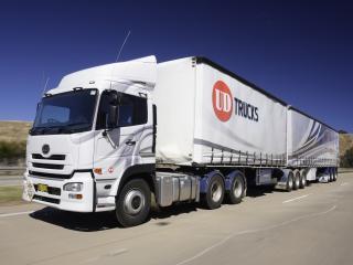 обои для рабочего стола: UD Trucks Quon GW Tractor дорога