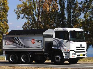 обои для рабочего стола: UD Trucks Quon GW Dump Truck сбоку