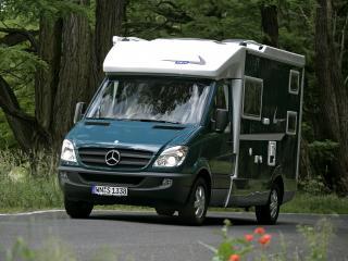 обои Tikro Mercedes-Benz Sprinter (W906) дорога фото
