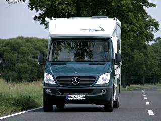 обои Tikro Mercedes-Benz Sprinter (W906) на дороге фото