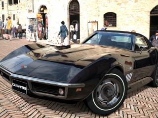 обои Черный  corvette covertible фото