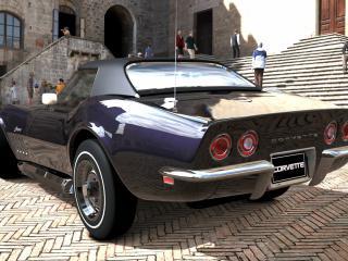 обои Мощный  corvette 1969 года фото