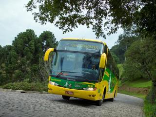 обои Marcopolo Scania K124 Paradiso 1200 4x2 желтый фото