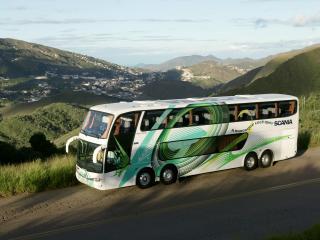 обои для рабочего стола: Marcopolo Scania K124 Paradiso 1800 DD 8x2 сбоку