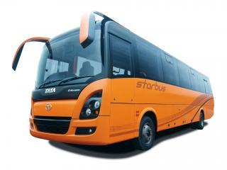 обои Marcopolo Tata Starbus оранжевый фото