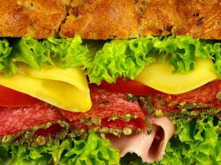 обои Гамбургер вкусный фото