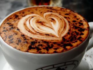 обои для рабочего стола: Кофе с сердцем