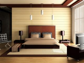 обои Спальня в доме фото