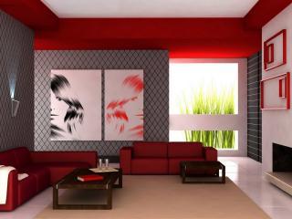 обои Красная комната фото