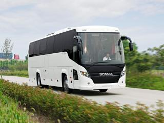 обои Higer Scania Touring 4x2 дорога фото