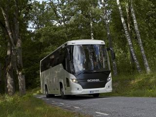 обои Higer Scania Touring 4x2 лес фото