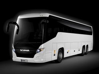 обои Higer Scania Touring HD 6x2 бок фото