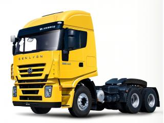 обои Genlyon 340 6x4 Tractor желтый фото