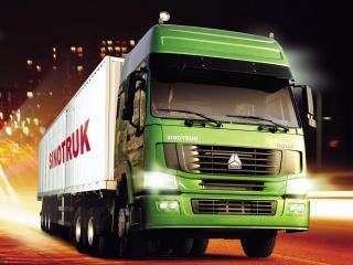 обои CNHTC Howo 6x4 Tractor зеленый фото