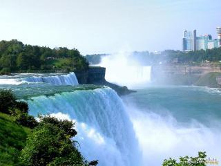 обои Ниагарский водопад брызги фото