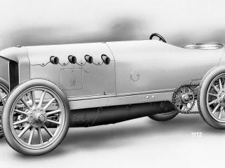 обои 1910 Benz 200HP Blitzen-Benz сбоку фото