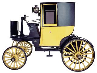 обои Bersey Electric Cab 1897 желтый фото