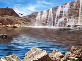 обои Графические водопады фото