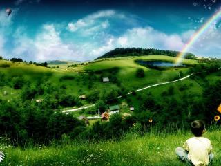обои Лето в волшебной стране фото