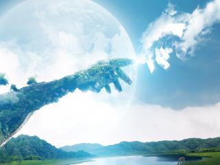 обои Рука в небе фото