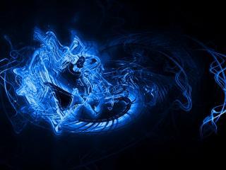 обои Голубая жидкость фото