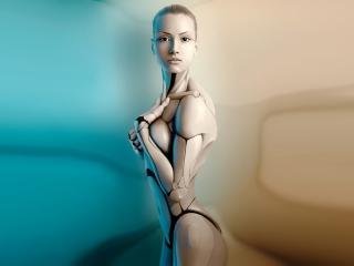 обои Девушка робот фото