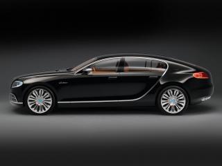 обои Bugatti 16C Galibier Concept 2009 черный фото
