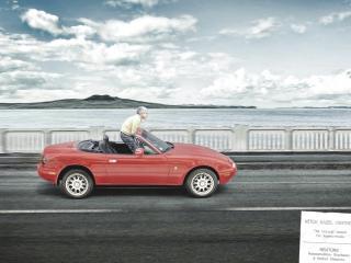 обои Красная машина фото