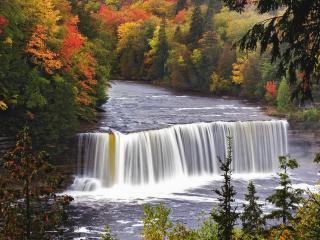 обои Маленький водопад фото