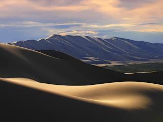 обои для рабочего стола: Пустыня на закате