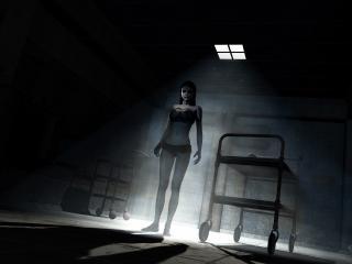 обои Девушка зомби в заброшеной больнице фото