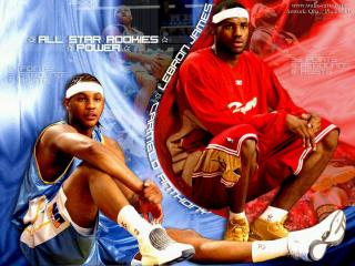 обои Звездные новички НБА фото
