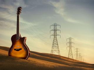 обои Креатив большая гитара фото