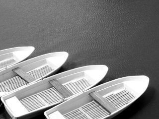 обои для рабочего стола: Креатив лодочки