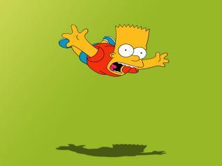обои Барт падает на пол фото