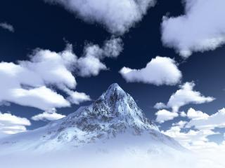 обои Снежная вершина фото