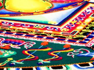 обои Угол ковра с тибетскими узорами фото