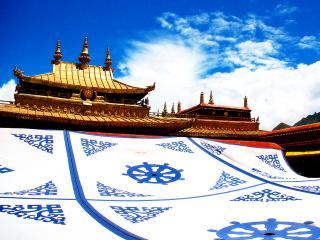 обои Тибетский дворец в праздничный день фото
