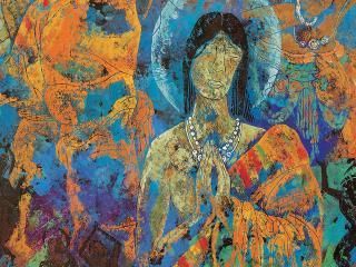 обои Святая девушка-будистка фото