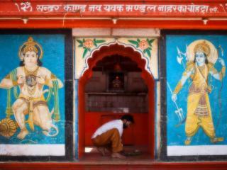 обои Восточный магазин для индуистов фото