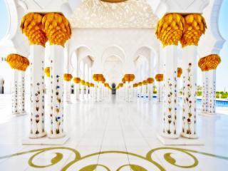 обои Внутренний двор мусульманского храма фото