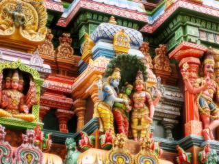 обои Фасад индуистского храма фото