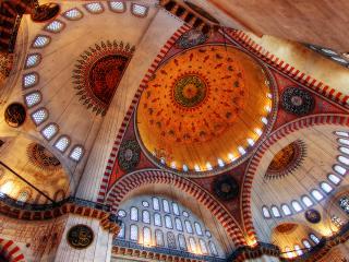 обои Красивые своды мечети фото
