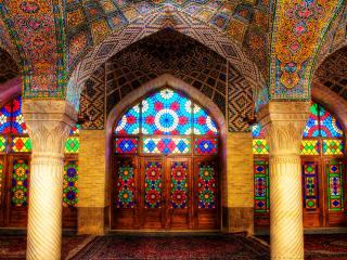 обои Внутреннее убранство мечети фото