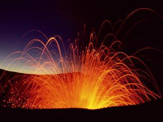 обои Вспышки вулканов фото