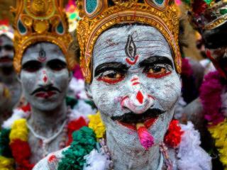 обои Актёры-индусы в гриме фото