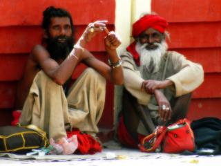 обои Два старых индуса фото