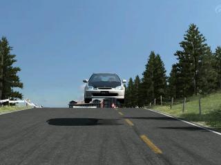 обои Тюнингованная хонда цивик в прыжке фото