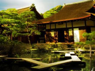 обои Японский домик и прудик фото